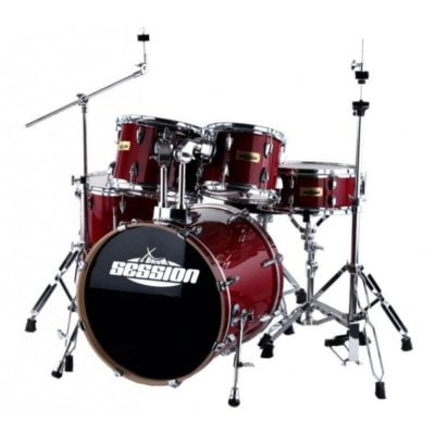 XDrum Stage II Studio Drum Set Translucent Red