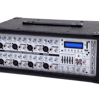 Pronomic-PM83U-8-Channel-Powered-Mixer-with-USB-SD-Bluetooth-MP3-Player