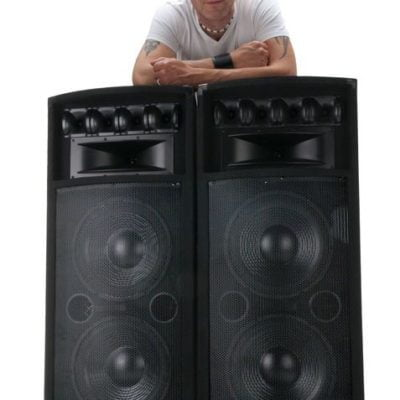McGREY POWER DJ PASSIVE SPEAKERS - 400 watts RMS x 2