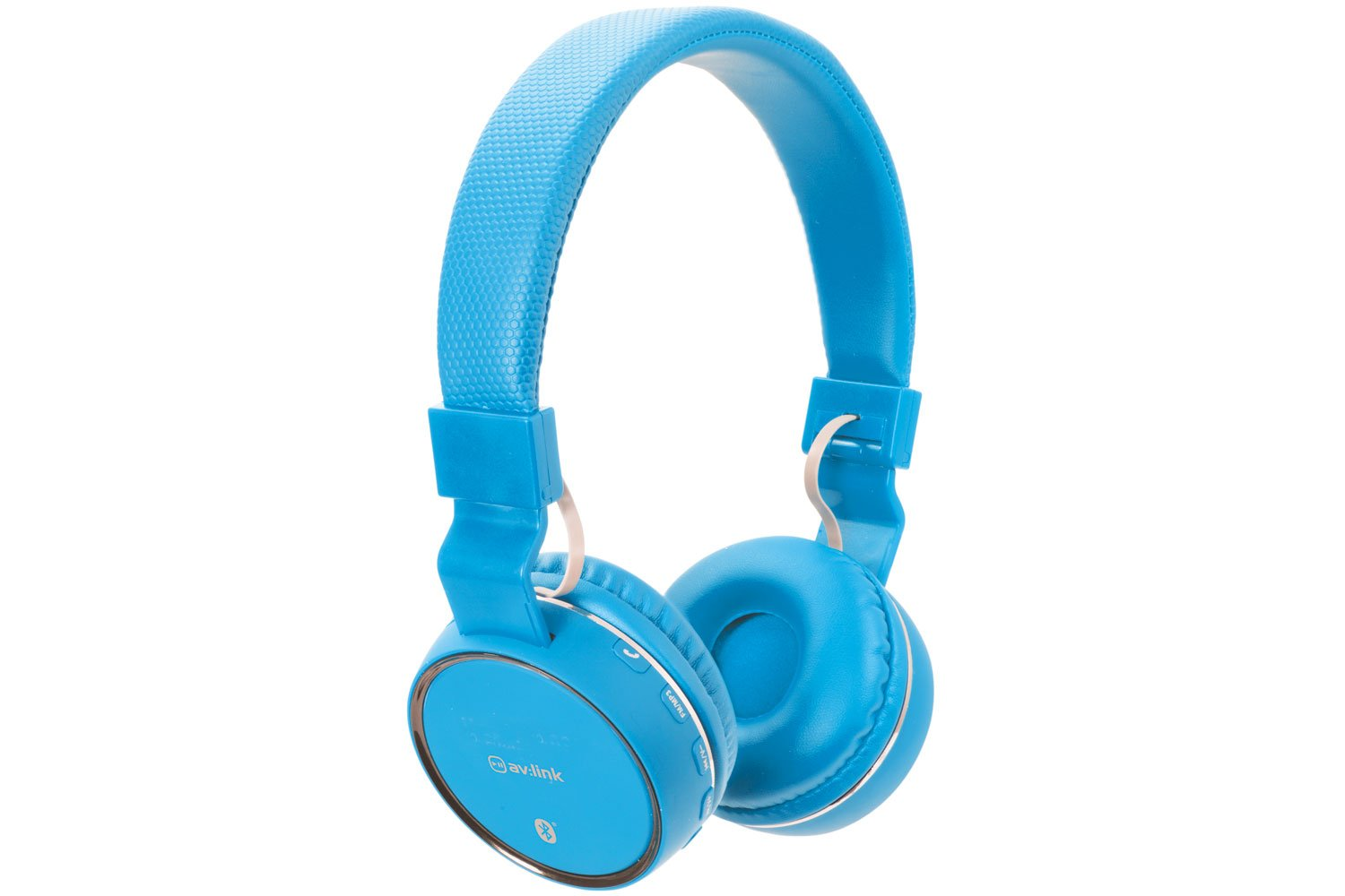 Blue Wireless Bluetooth Headphones - Built-in Microphone ...