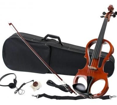 Classic Cantabile EV-81 E-Violin Complete Set with Headphones