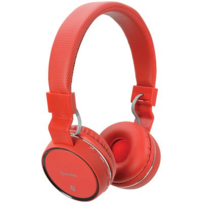 Red Wireless Bluetooth Headphones