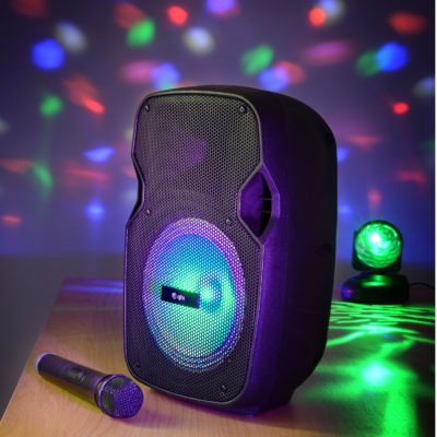 QTX PAL8 Portable PA Unit with Bluetooth and LED FX
