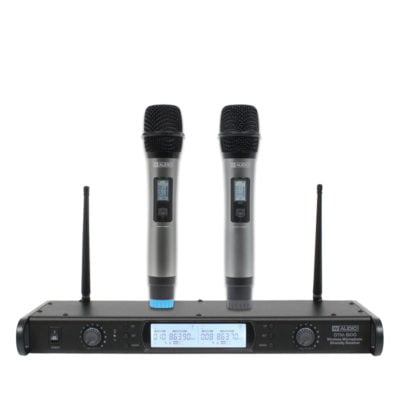 DTM 800H Twin Handheld UHF Wireless Microphones
