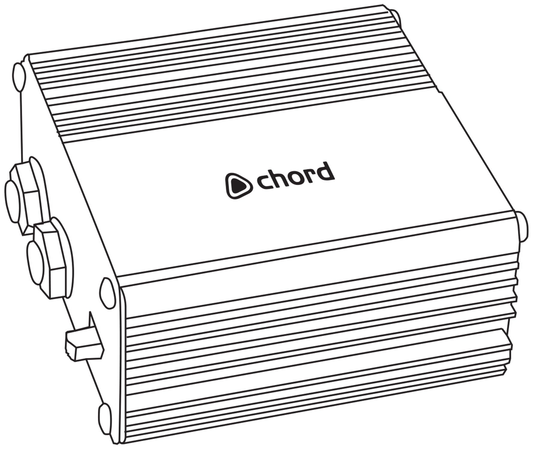 chord passive di box with noise filter to reduce rf interference