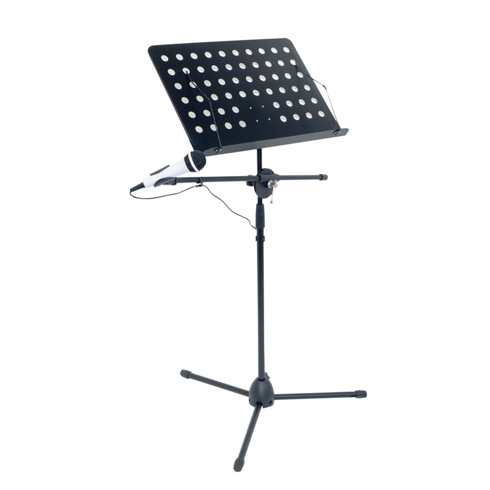 sheet music stand with mic boom arm all in one music stand mic arm. Black Bedroom Furniture Sets. Home Design Ideas