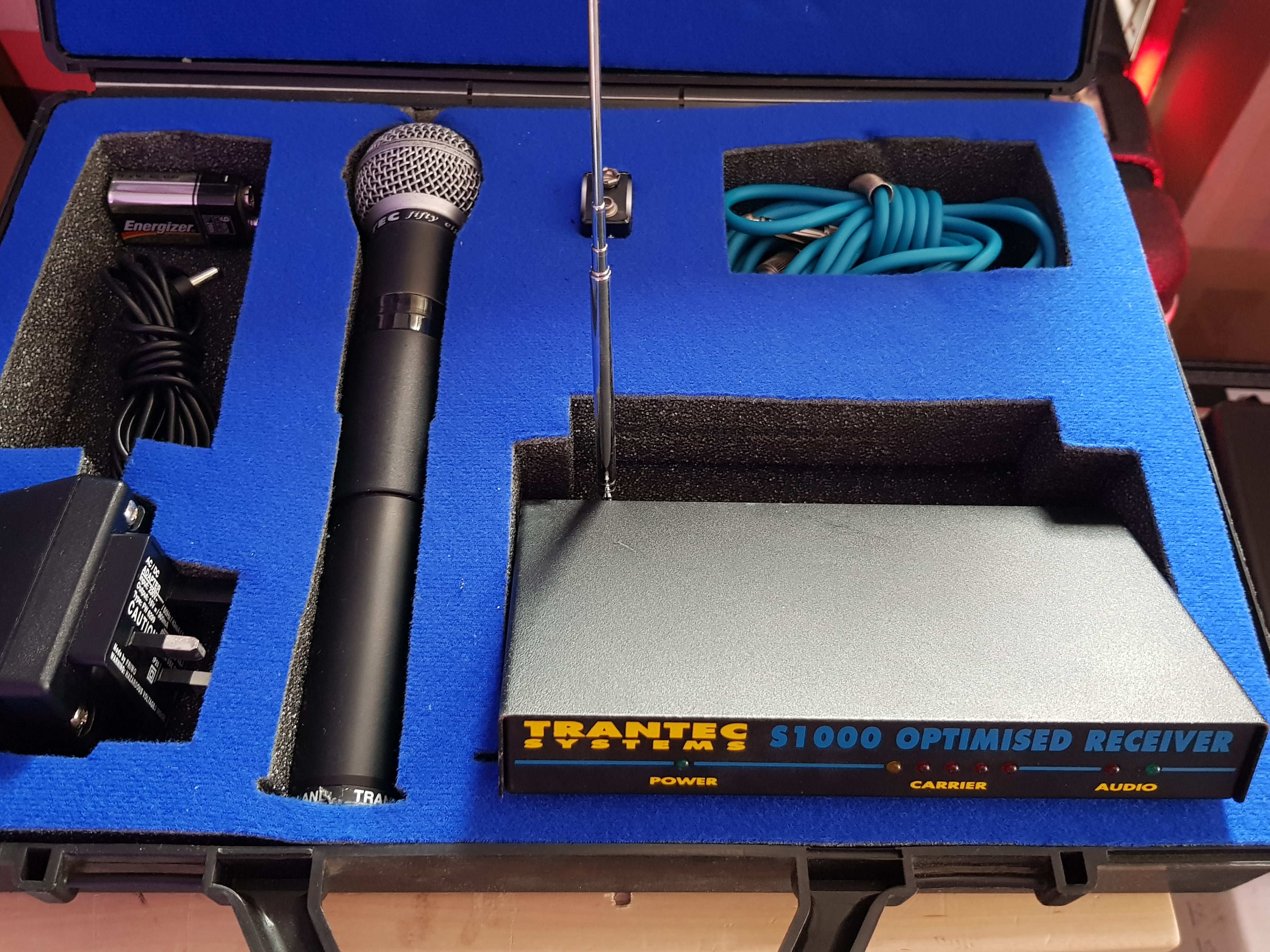 trantec systems s1000 optimised vhf wireless microphone for sale. Black Bedroom Furniture Sets. Home Design Ideas