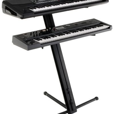 Classic Cantabile KS-100 Double Keyboard Stand Black
