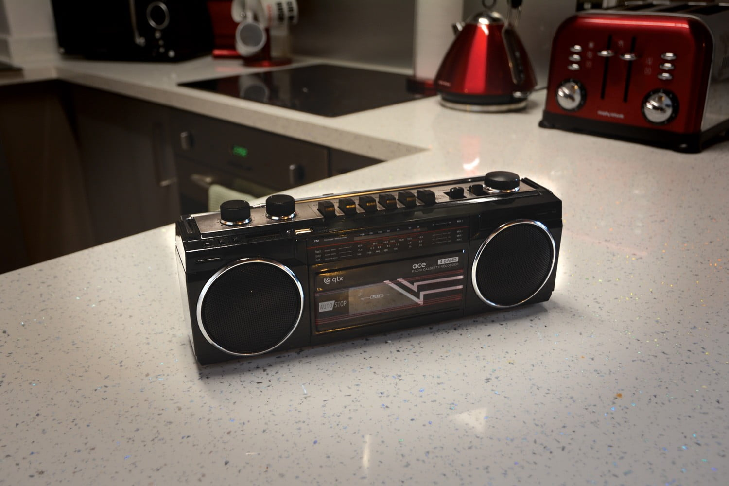 Retro Radio Cassette Player with Bluetooth & MP3 Playback with USB & SD  ports