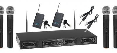 McGrey UHF-4V2I Quad Wireless Microphone Set +2